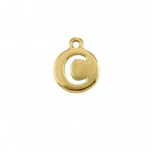 Pingente Ouro Letra C