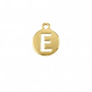 Pingente Ouro Letra E