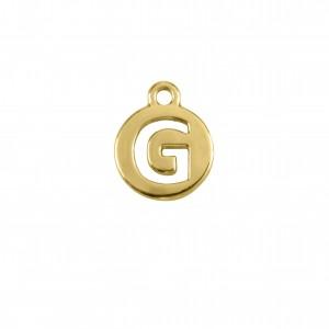 Pingente Ouro Letra G