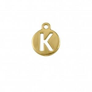 Pingente Ouro Letra K