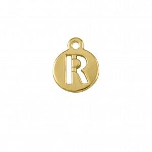 Pingente Ouro Letra R