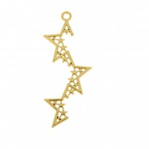 Pingente Estrela Ouro 50mm