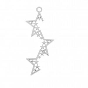 Base para Brinco Estrela Níquel 5mm