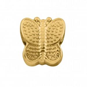 Berloque Borboleta Ouro 12mm