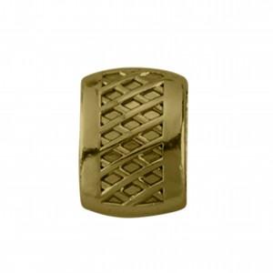 Passador Retangular Texturizado Ouro Velho 10mm