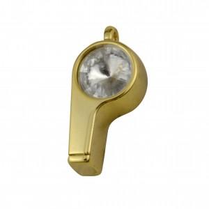 Pingente Ouro Apito 15mm