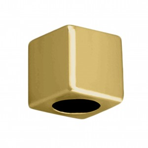 Ponteira Quadrada Ouro 7mm