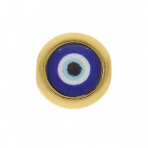 Berloque Redondo Olho Grego Ouro 11mm