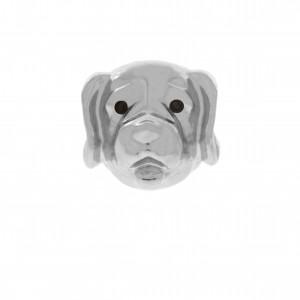 Berloque Cão Níquel 13mm