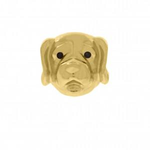Berloque Cão Ouro 13mm