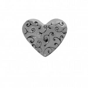 Berloque Coração Grafite 11mm