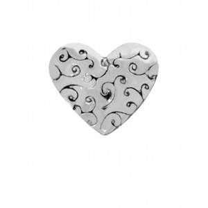 Berloque Coração Níquel 11mm