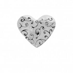 Berloque Coração Níquel 9mm