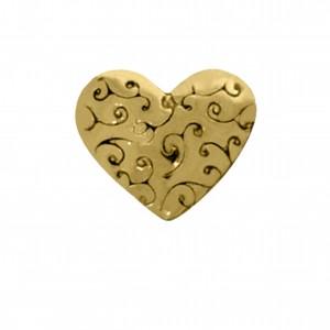 Berloque Coração Ouro 9mm