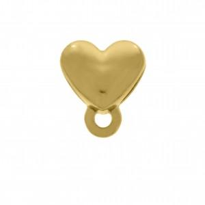 Berloque Coração Ouro 12mm