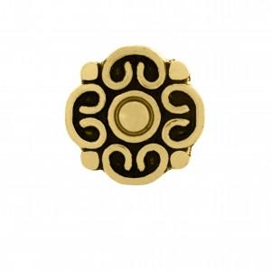 Berloque Flor Ouro 12mm