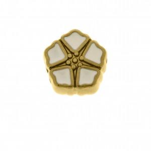 Berloque Flor Ouro 13mm