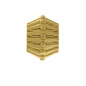 Berloque Texturizado Ouro 9mm