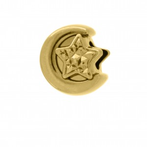 Berloque Lua Ouro 12mm