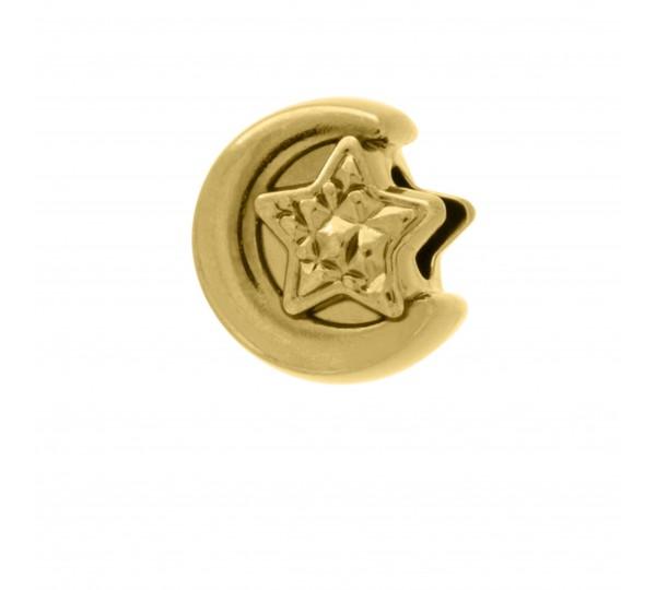 Berloque Lua Ouro 12mm