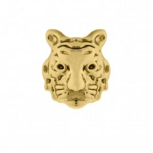 Berloque Tigre Ouro com Preto 12mm