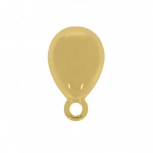 Base para Brinco Oval Ouro