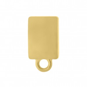 Base para Brinco Retangular Ouro 13 mm