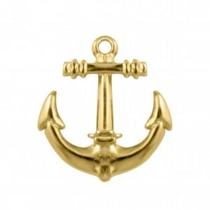 Pingente Ouro Âncora 31mm