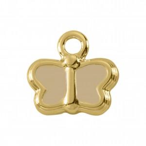 Pingente Borboleta Ouro com Resina Cairo 14mm