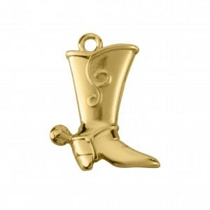 Pingente Ouro Bota 23mm