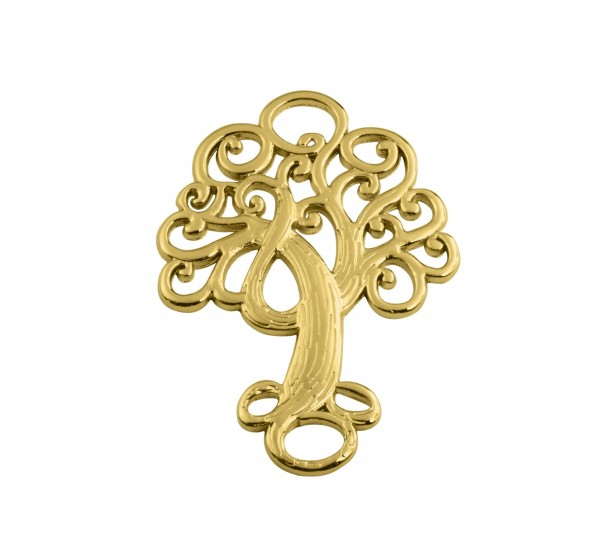 Pingente Ouro Árvore 36mm
