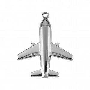 Pingente Níquel Avião 37,5mm