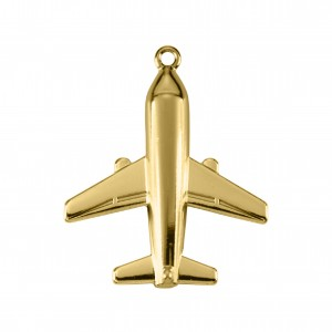 Pingente Ouro Avião 37,5mm