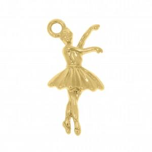 Pingente Ouro Bailarina 26mm