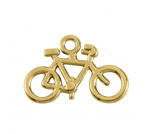 Pingente Ouro Bicicleta 21mm