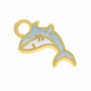 Pingente Ouro Tubarão 16mm
