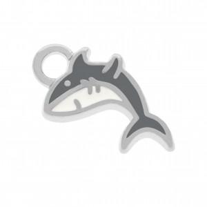 Pingente Níquel Tubarão 16mm