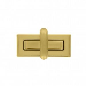 Fecho Retangular Ouro 55mm para Bolsa