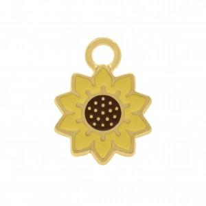 Pingente Ouro Flor 15mm