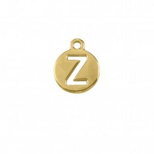 Pingente Ouro Letra Z 16mm