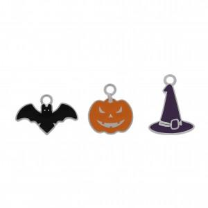 Conjunto de Pingentes Halloween Níquel