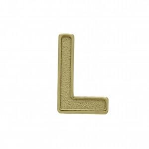 Passador Letra L Ouro Velho 13mm