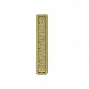 Passador Letra I Ouro Velho 13mm