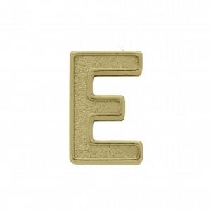 Passador Letra E Ouro Velho 13mm