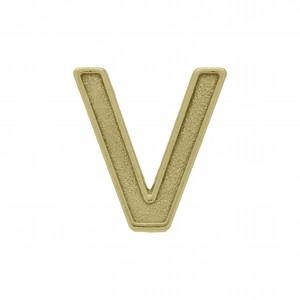 Passador Letra V Ouro Velho 13mm
