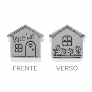 Berloque Casa Prata Velha 12mm