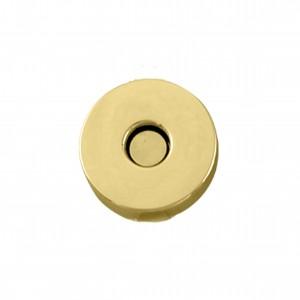 Botão Redondo Ouro com Imã 20mm para Bolsa