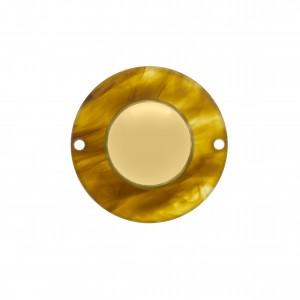 Botão Acrílico Efeito Tartaruga 35mm