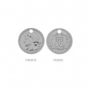 Pingente Medalha Níquel 12mm