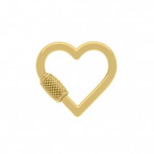 Chaveiro Coração Ouro 29mm